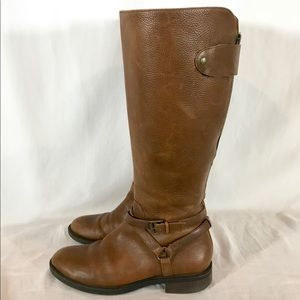 Enzo Angiolini Easaevon Tall Leather Riding Boots